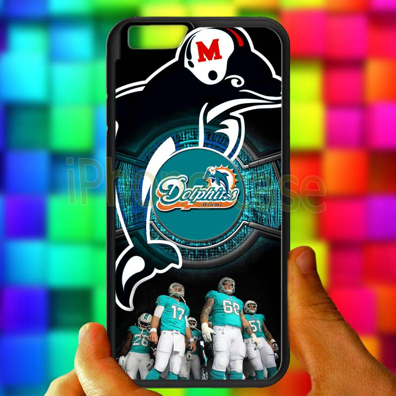 "miami dolphins ryan tannehill fit for iphone 6 4.7"" black case cover"