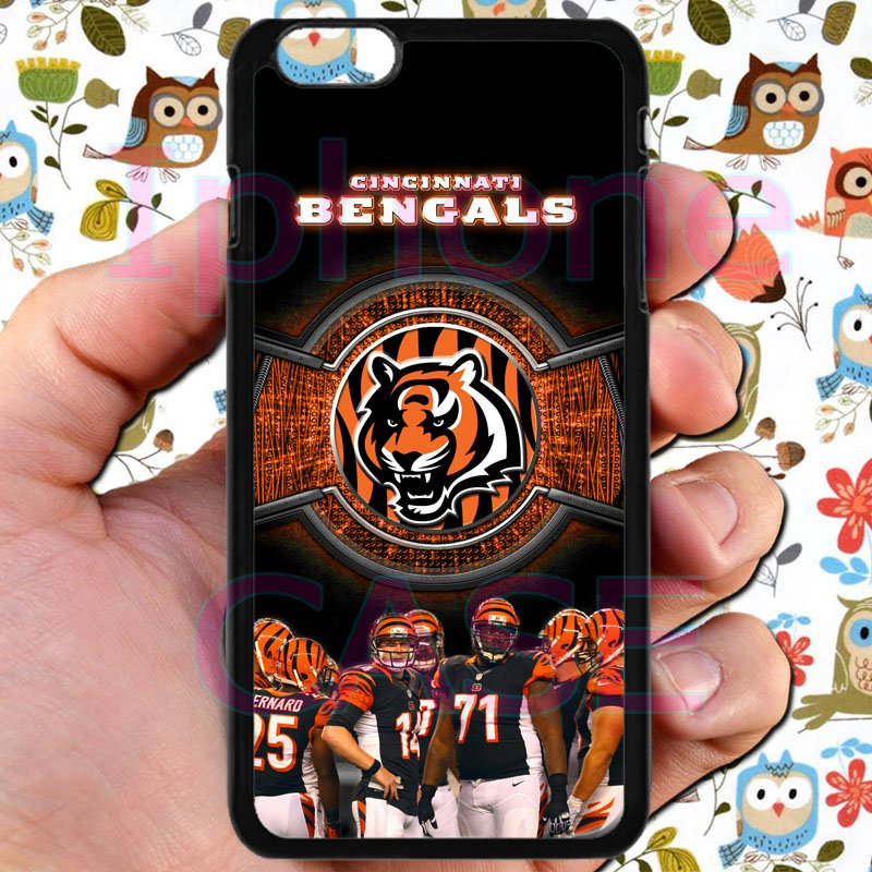"Cincinnati Bengals football a j green fit for iphone 6 plus 5.5"" black case cover"