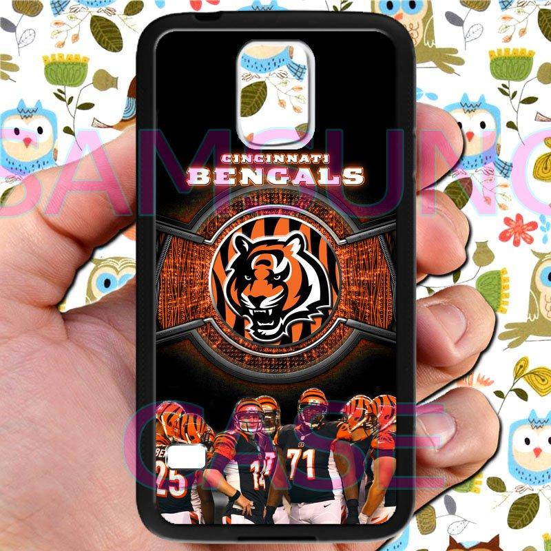 Cincinnati Bengals football a j green fit for samsung galaxy S5 S 5 S V black case cover
