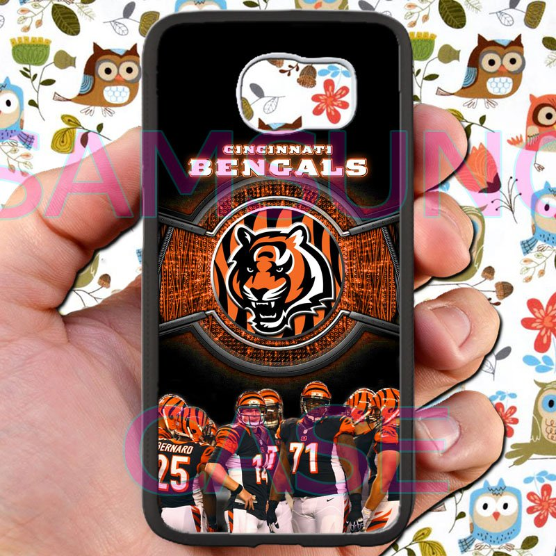 Cincinnati Bengals football a j green fit for samsung galaxy S6 S 6 S VI edge black case cover