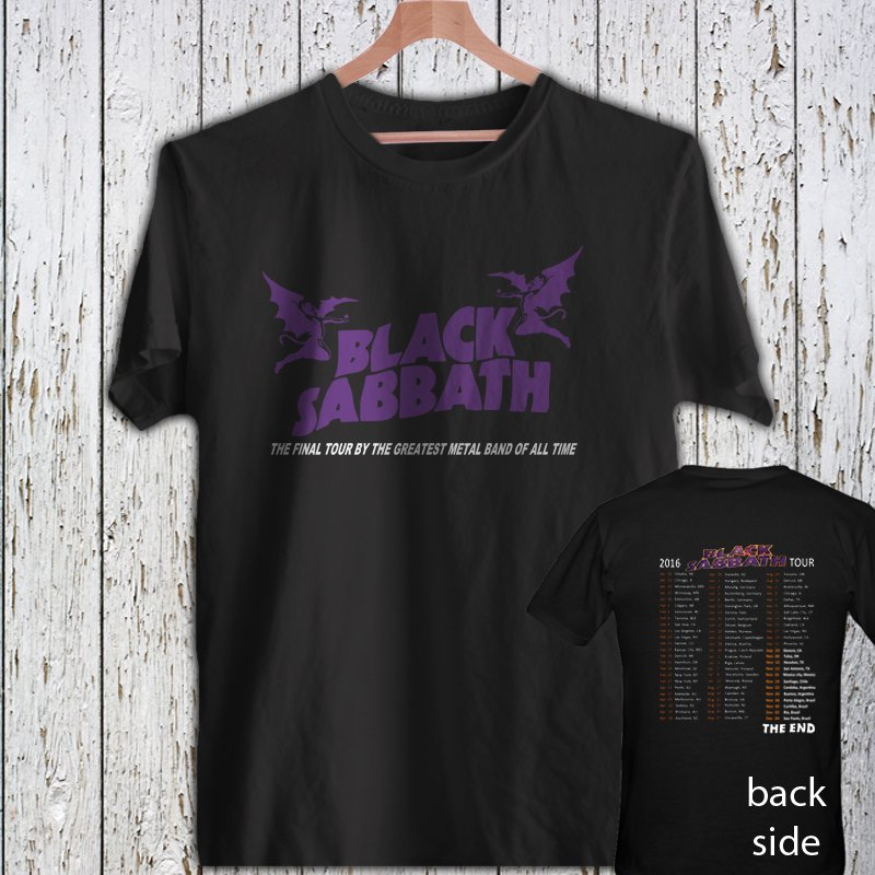 Black Sabbath The End Tour 2016 Rock Band Concert DESIGN 4 black t-shirt tshirt shirts tee SIZE M