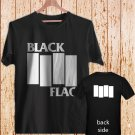 2 Side Black Flag Vintage Rock Band Logo Greg Ginn black t-shirt tshirt shirts tee SIZE L