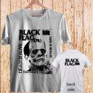 2 Side Black Flag Vintage Rock Band Logo Greg Ginn DESIGN 2 white t-shirt tshirt shirts tee SIZE L