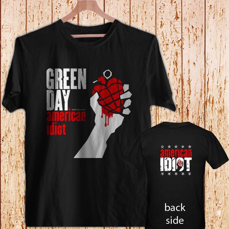 GREEN DAY - American Idiot - black t-shirt tshirt shirts tee SIZE S