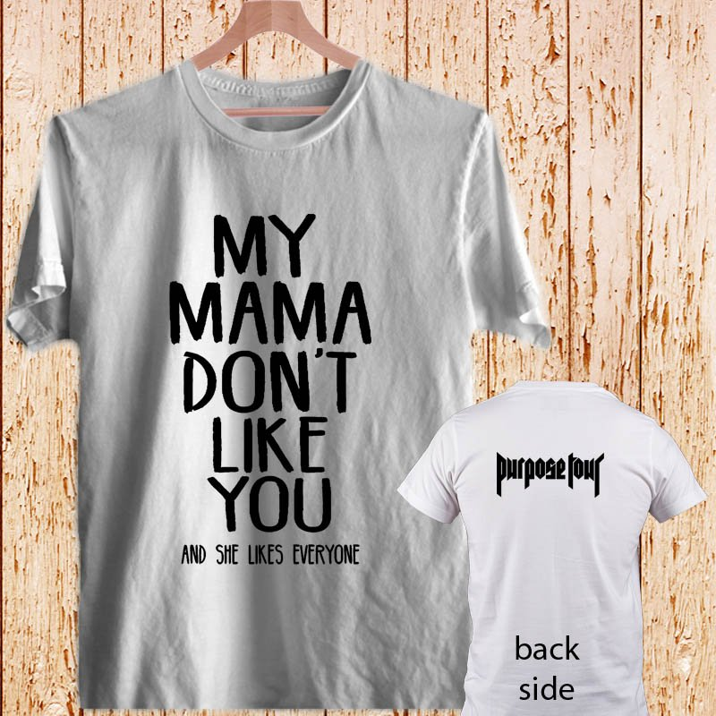 Justin Bieber Purpose white t-shirt tshirt shirts tee SIZE L