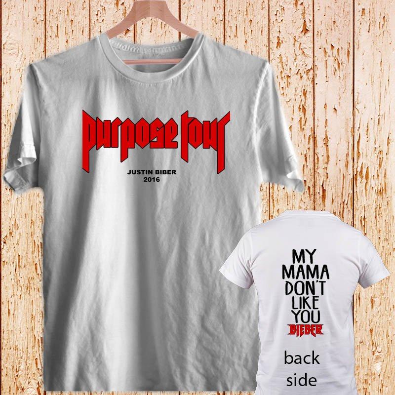 Justin Bieber Purpose DESIGN 3 white t-shirt tshirt shirts tee SIZE XL