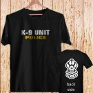 K-9 Special Unit Police Dog Canine black t-shirt tshirt shirts tee SIZE L