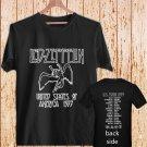 Led Zeppelin USA TOUR 77 T-Shirt 1977 Stairway black t-shirt tshirt shirts tee SIZE XL