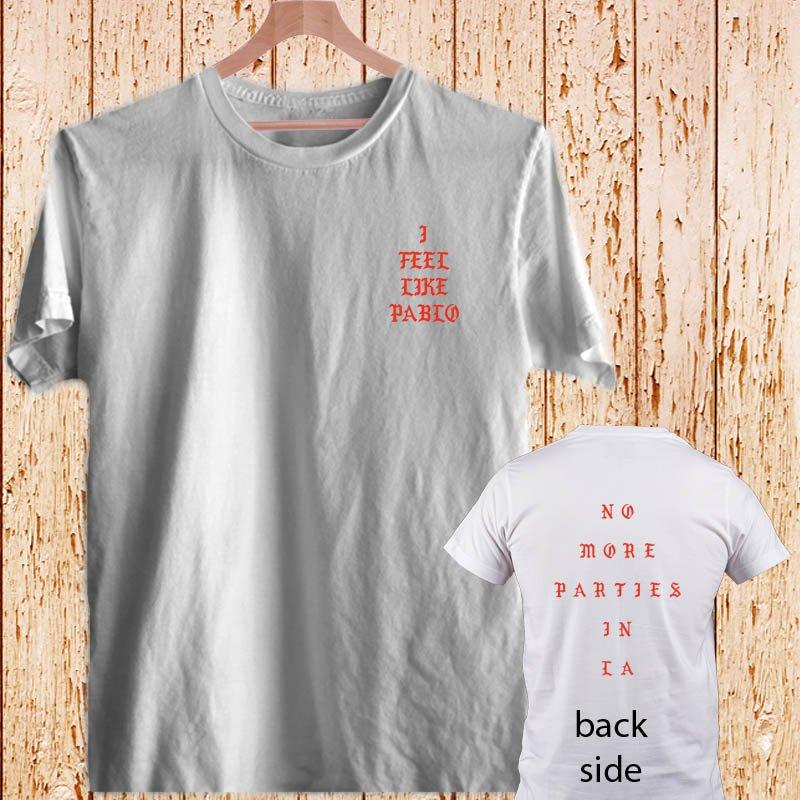 Yeezus Feel Like Pablo Kanye West white t-shirt tshirt shirts tee SIZE L