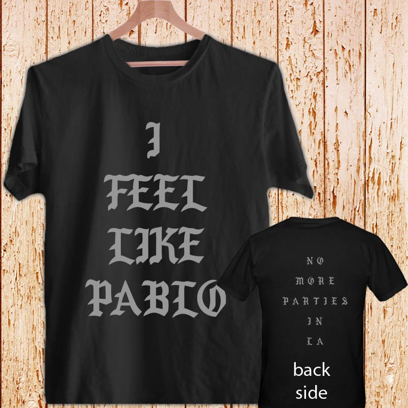 Yeezus Feel Like Pablo Kanye West DESIGN 3 black t-shirt tshirt shirts tee SIZE L