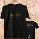 Lotus F1 Team Logo black t-shirt tshirt shirts tee SIZE L