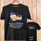Nikola Tesla black t-shirt tshirt shirts tee SIZE S