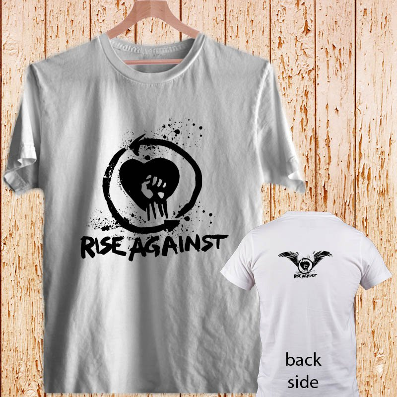 RISE AGAINST - Punk Rock white t-shirt tshirt shirts tee SIZE 3XL
