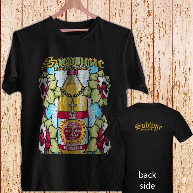 Sublime 40 OZ Bottle black t-shirt tshirt shirts tee SIZE S