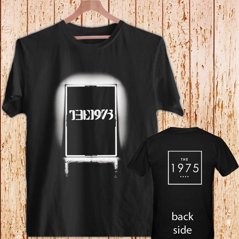 THE 1975 BAND DESIGN 2 black t-shirt tshirt shirts tee SIZE L
