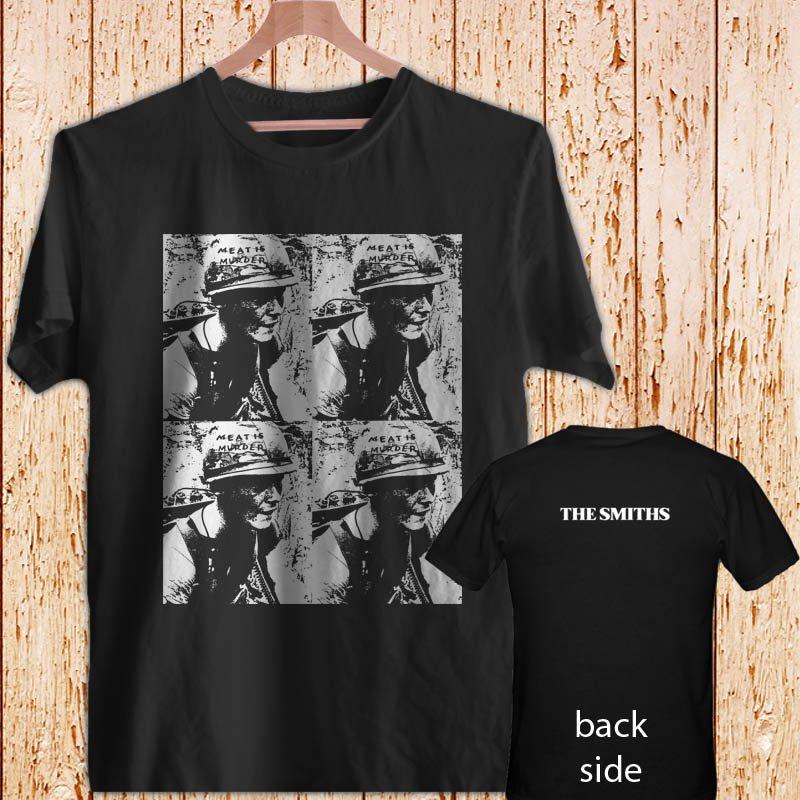 The Smiths (Blue Logo) black t-shirt tshirt shirts tee SIZE M