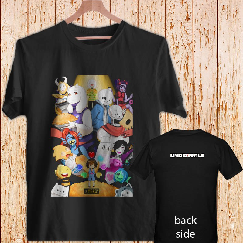 Undertale Game Sans And Papyrus Brother black t-shirt tshirt shirts tee SIZE M