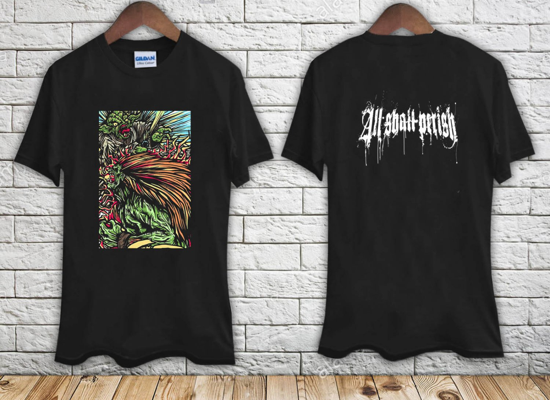 ALL SHALL PERISH (Street Fighter) black t-shirt tshirt shirts tee SIZE S