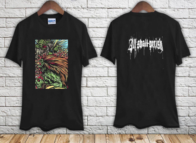 ALL SHALL PERISH (Street Fighter) black t-shirt tshirt shirts tee SIZE L