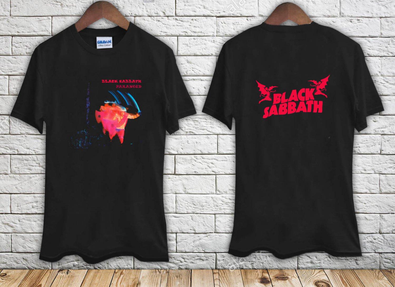 Black Sabbath Paranoid black t-shirt tshirt shirts tee SIZE L