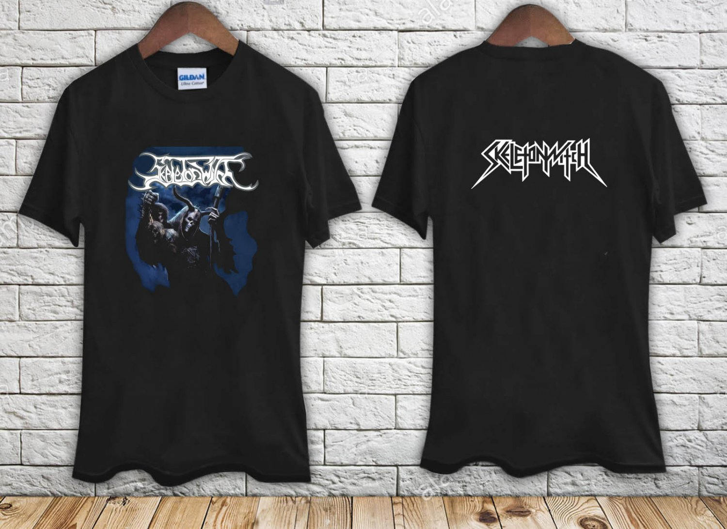 SKELETONWITCH (At One With The Shadows) black t-shirt tshirt shirts tee SIZE M