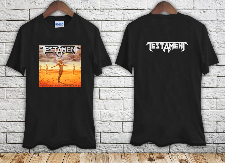 TESTAMENT PRACTICE WHAT YOU PREACH 89 THRASH MEGADETH ANTHRAX black t-shirt tshirt shirts tee SIZE L