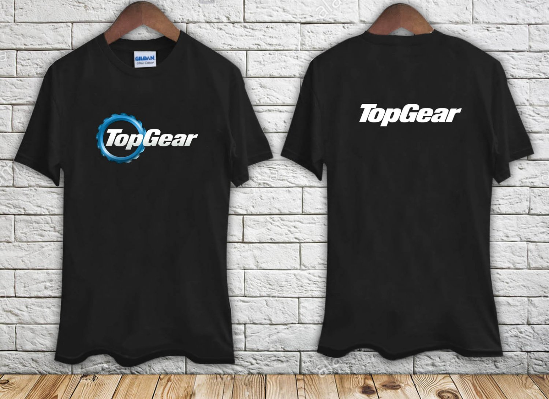 TOP GEAR Automotive Megazine TV Show Logo black t-shirt tshirt shirts tee SIZE 3XL
