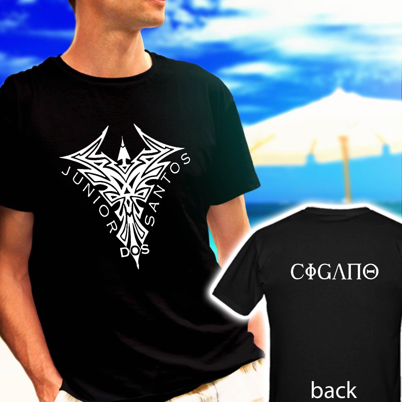 Brazilian JUNIOR DOS SANTOS CIGANO MMA Fighter black t-shirt tshirt shirts tee SIZE L