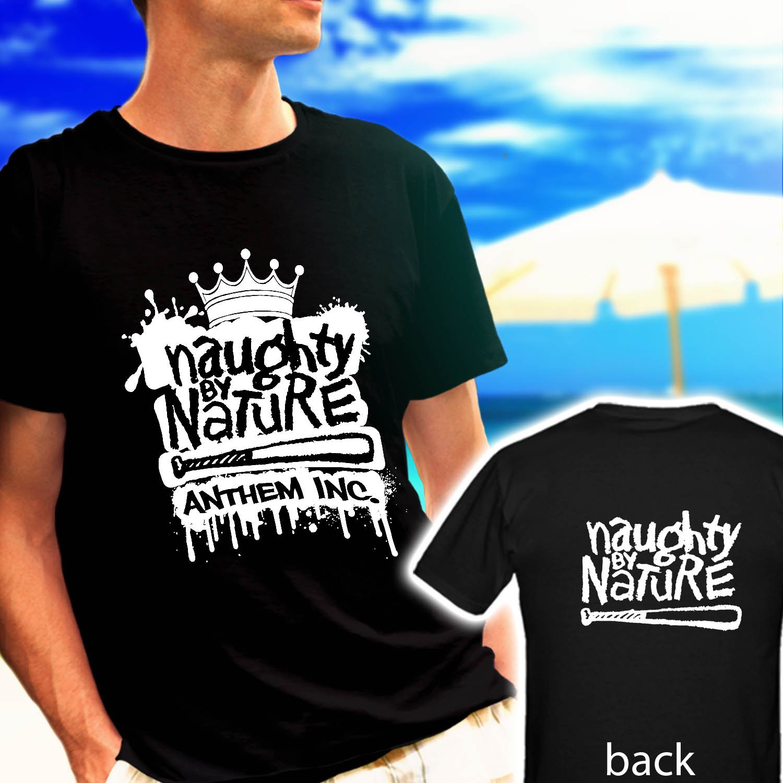 Naughty By Nature Rap Hip Hop Mens black t-shirt tshirt shirts tee SIZE L