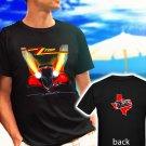"ZZ TOP ""Eliminator"" Classic Retro Rock Band black t-shirt tshirt shirts tee SIZE M"