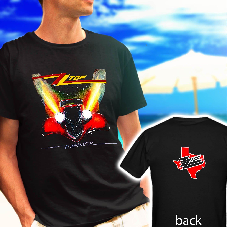 "ZZ TOP ""Eliminator"" Classic Retro Rock Band black t-shirt tshirt shirts tee SIZE L"