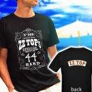 ZZ TOP Classic Retro Rock Band Logo black t-shirt tshirt shirts tee SIZE S