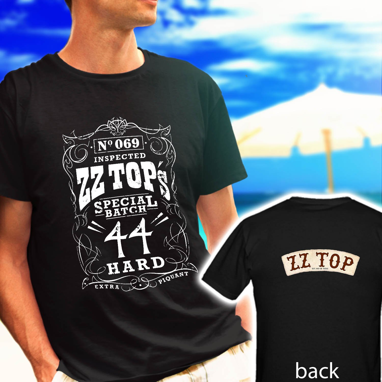 ZZ TOP Classic Retro Rock Band Logo black t-shirt tshirt shirts tee SIZE 2XL