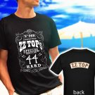 ZZ TOP Classic Retro Rock Band Logo black t-shirt tshirt shirts tee SIZE 2XL