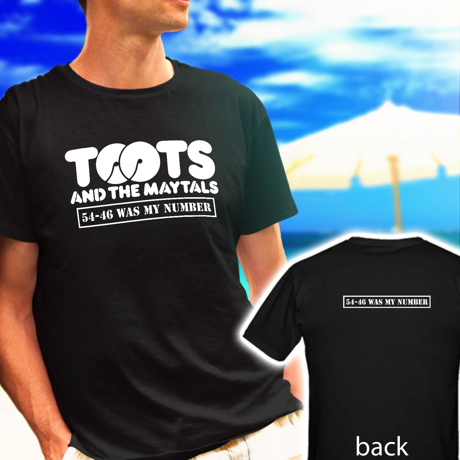 Toots and The Maytals Reggae Studio 54-46 was my number black t-shirt tshirt shirts tee SIZE M