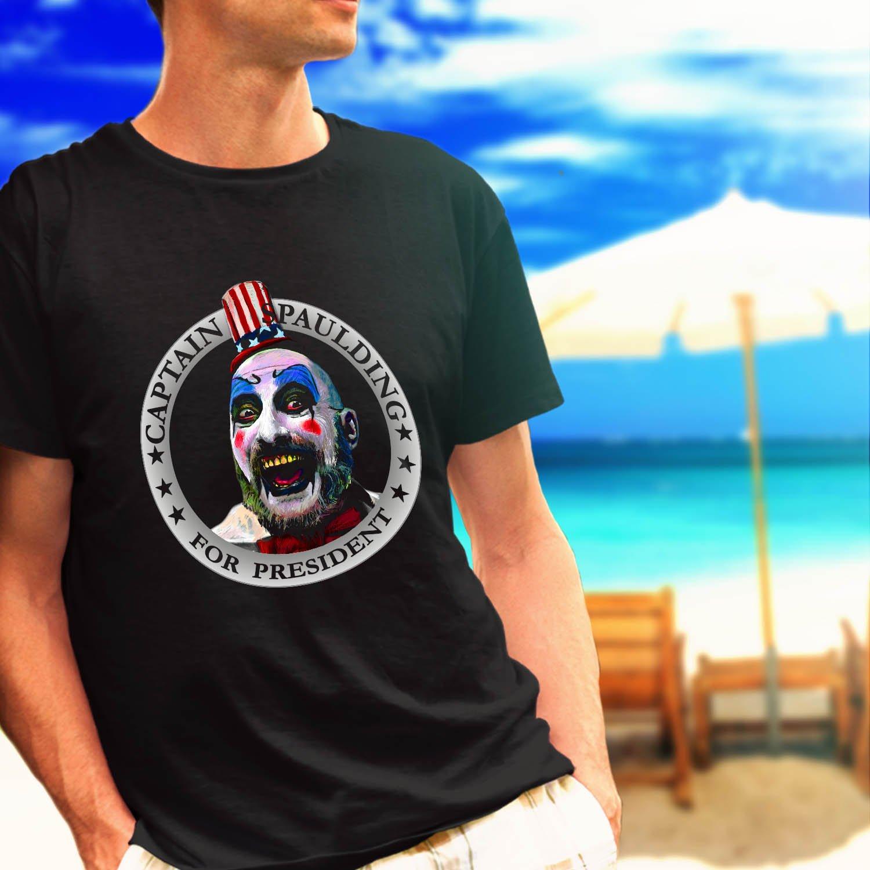 Captain Spaulding for President Rob Zombie black t-shirt tshirt shirts tee SIZE XL