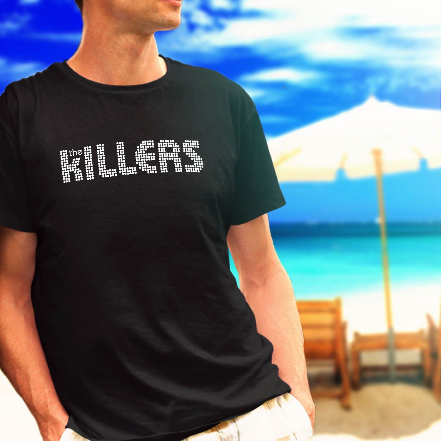 the killers hot fuss band tour concert album black t-shirt tshirt shirts tee SIZE S
