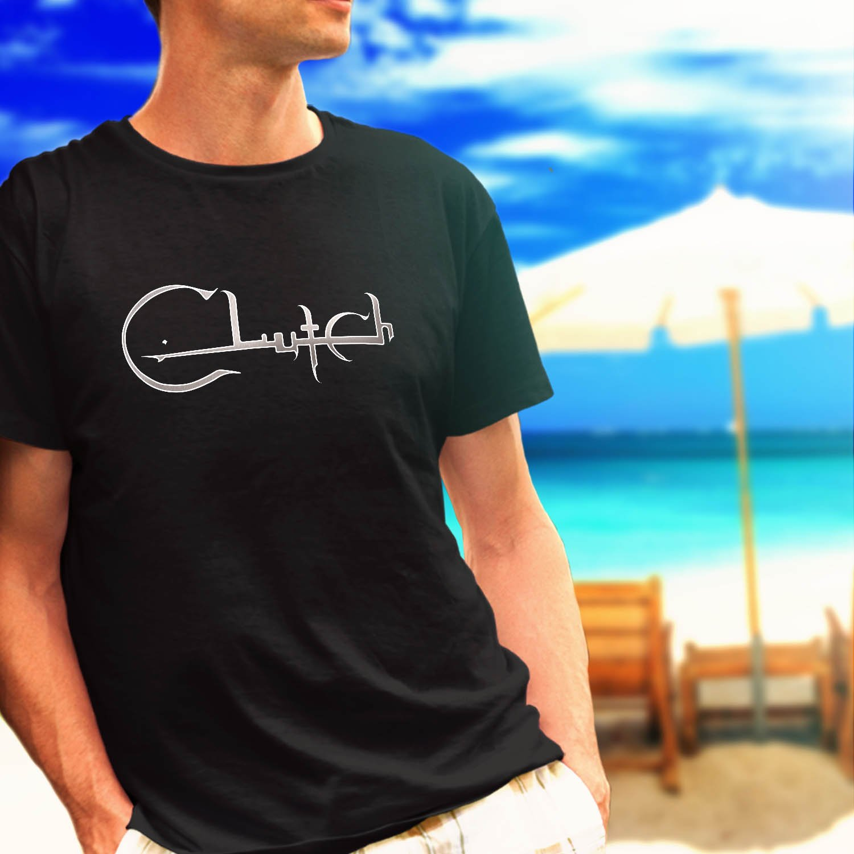 Clutch Simple Logo Hard Rock Band black t-shirt tshirt shirts tee SIZE 2XL