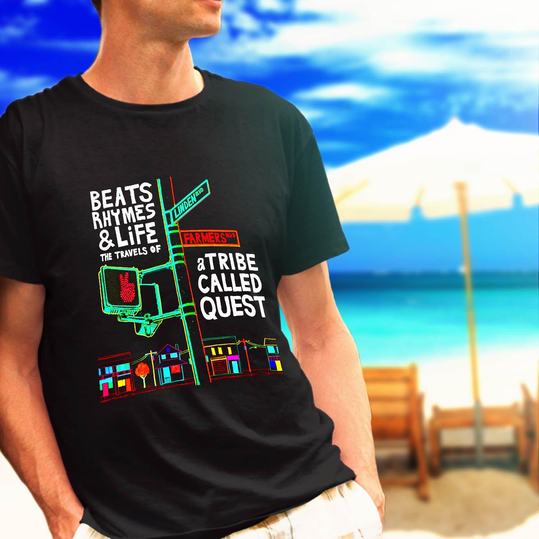 A TRIBE CALLED QUEST Beats Rhymes black t-shirt tshirt shirts tee SIZE S