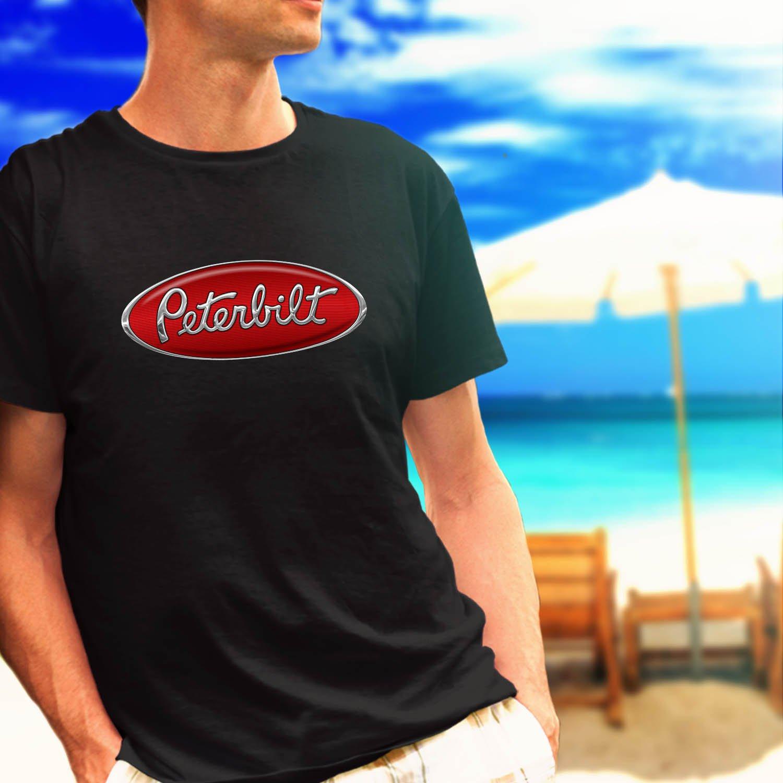 PETERBILT TRUCK Racing Classic Logo black t-shirt tshirt shirts tee SIZE 2XL