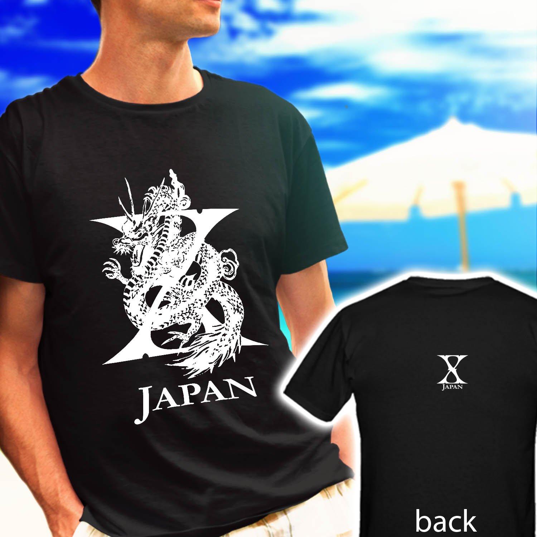 X Japan Yoshiki Toshi Hide black t-shirt tshirt shirts tee SIZE XL