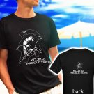 Kojima Productions Studio logo Metal Gear Hideo black t-shirt tshirt shirts tee SIZE S
