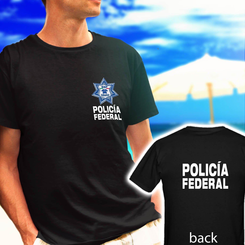 new Mexico Police Policia Federal Sicario black t-shirt tshirt shirts tee SIZE L