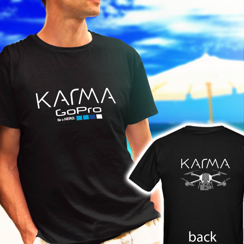 GOPRO-KARMA DRONE LOGO black t-shirt tshirt shirts tee SIZE 2XL