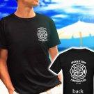 boston firefighter fire department est 1640 black t-shirt tshirt shirts tee SIZE M
