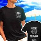 BOSTON POLICE DEPARTMENT logo badge black t-shirt tshirt shirts tee SIZE S