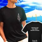 US ARMY SNIPER SCHOOL MARINE black t-shirt tshirt shirts tee SIZE S