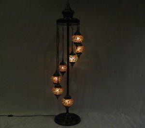 Moroccan lantern mosaic floor lamp glass chandelier light lampe mosaiqe yer 20
