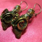 1 of a kind handmade earrings vintage antique tribal kuchi gem stone unique 7