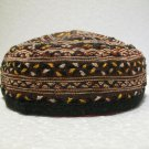 Antique asian fine embroidery hat turkish beret collecion hat vegetable dyes 30